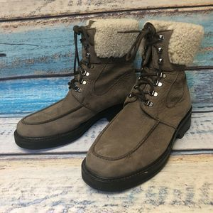 Cole Haan Brown Suede Leather Ankle Boots Women
